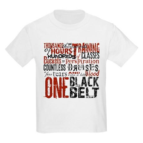 ONE BLACK BELT Kids Light T-Shirt