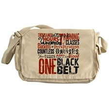 ONE BLACK BELT Messenger Bag