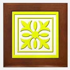 Quilt Patch (Yellow) Framed Tile