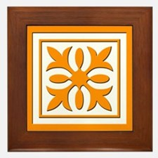 Quilt Patch (Orange) Framed Tile
