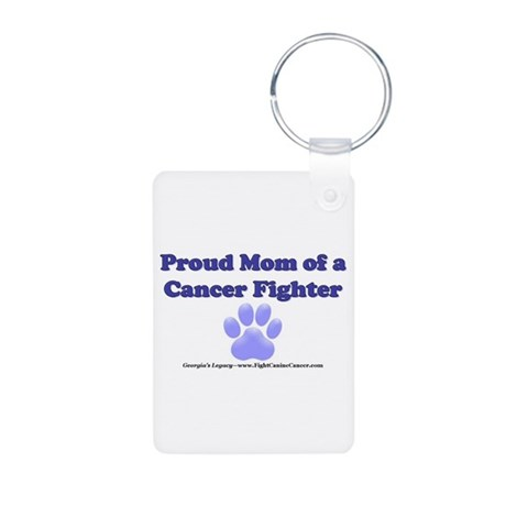 Proud Mom Aluminum Photo Keychain