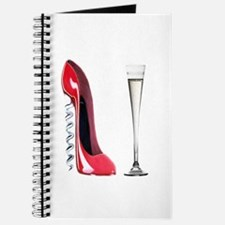 Corkscrew Red Stiletto and Champagne Art Journal