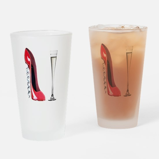 Corkscrew Red Stiletto and Champagne Art Drinking