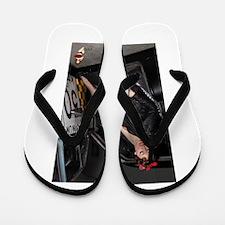 Fishnet Sidedoor Flip Flops