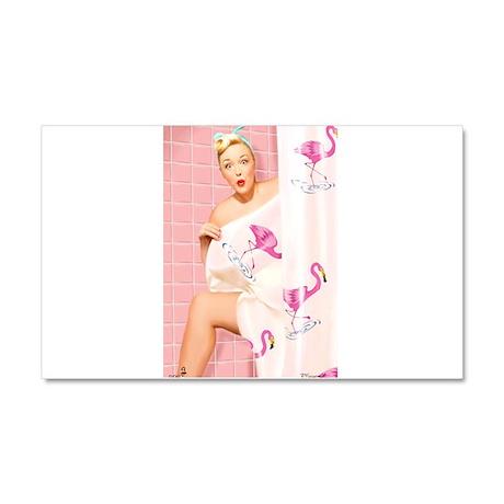 Pink Flamingos Car Magnet 20 x 12