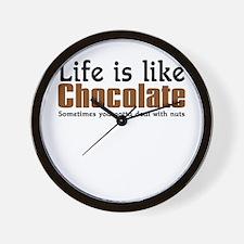 Life is like chocolate Wall Clock