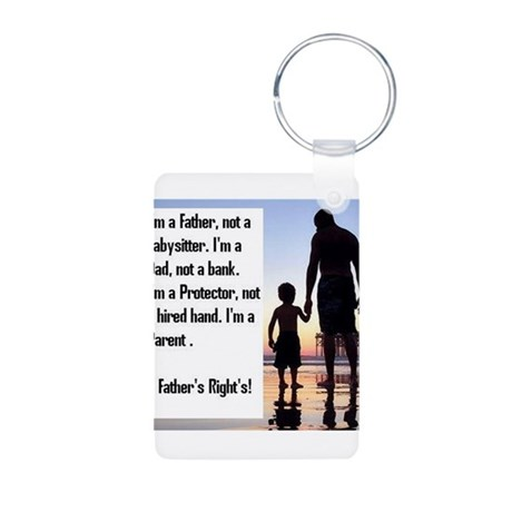 Im a Father First Aluminum Photo Keychain