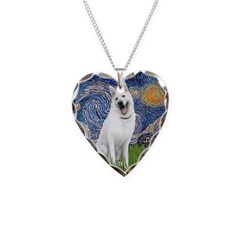Starry-White German Shepherd Necklace