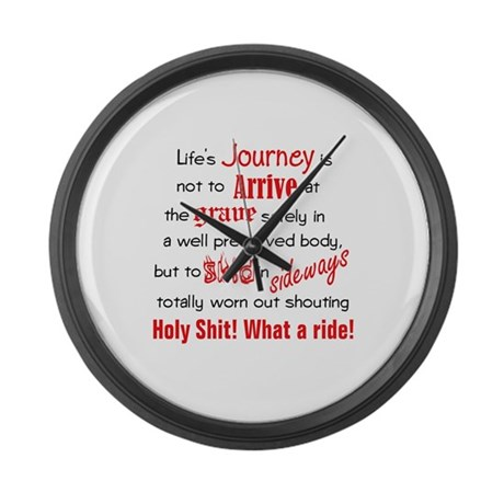 Lifes Journey Large Wall Clock
