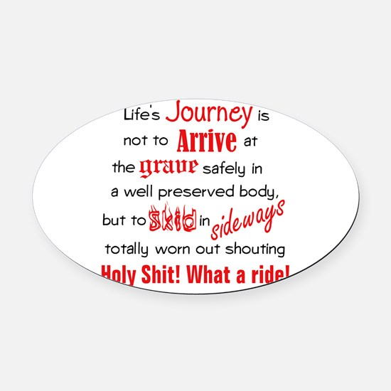 Lifes Journey Oval Car Magnet