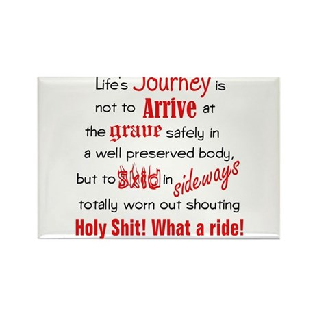 Lifes Journey Rectangle Magnet