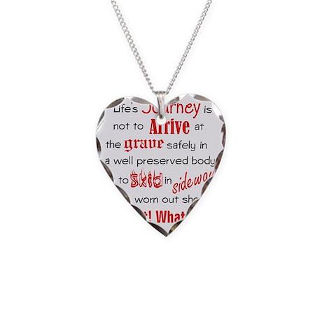Lifes Journey Necklace Heart Charm