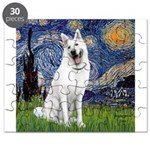 Starry-White German Shepherd Puzzle