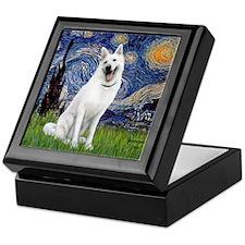 Starry-White German Shepherd Keepsake Box