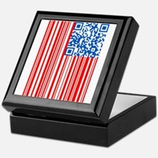 USA Bar Code Flag Keepsake Box
