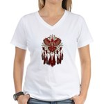 Native Cardinal Mandala Women's V-Neck T-Shirt