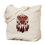 Native Cardinal Mandala Tote Bag