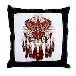 Native Cardinal Mandala Throw Pillow