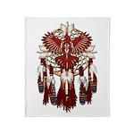 Native Cardinal Mandala Throw Blanket