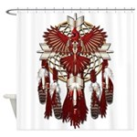 Native Cardinal Mandala Shower Curtain