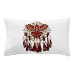 Native Cardinal Mandala Pillow Case