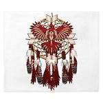 Native Cardinal Mandala King Duvet
