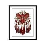 Native Cardinal Mandala Framed Panel Print