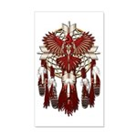 Native Cardinal Mandala 20x12 Wall Decal