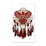 Native Cardinal Mandala 35x21 Wall Decal