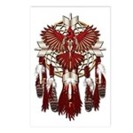 Native Cardinal Mandala Postcards (Package of 8)