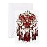 Native Cardinal Mandala Greeting Cards (Pk of 10)