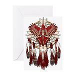 Native Cardinal Mandala Greeting Card