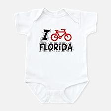 I Love Cycling Florida Infant Bodysuit