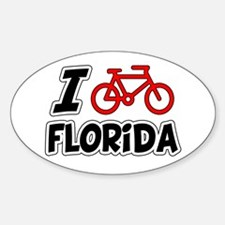 I Love Cycling Florida Decal