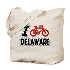 I Love Cycling Delaware Tote Bag