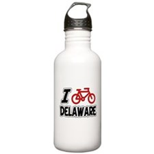 I Love Cycling Delaware Water Bottle
