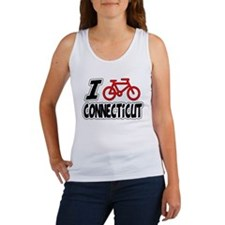I Love Cycling Connecticut Women's Tank Top
