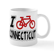 I Love Cycling Connecticut Mug