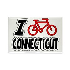 I Love Cycling Connecticut Rectangle Magnet