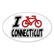 I Love Cycling Connecticut Decal