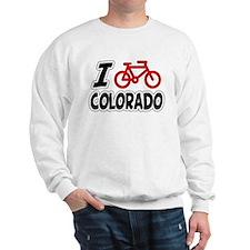 I Love Cycling Colorado Sweatshirt