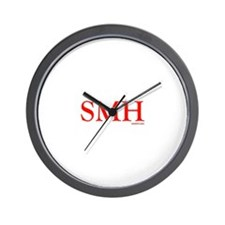 SMH (SHAKING MY HEAD) RED Wall Clock