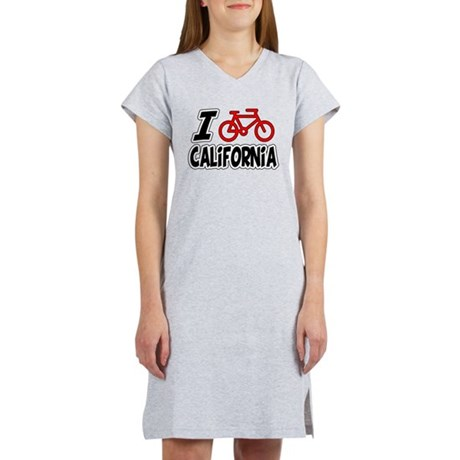I Love Cycling California Women's Nightshirt