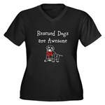 Rescued Dogs are Awesome Women's Plus Size V-Neck