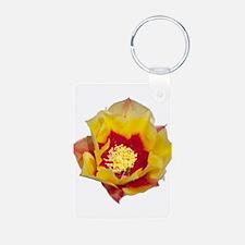 Prickly Pear Flower Keychains