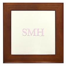 SMH (SHAKING MY HEAD) PINK Framed Tile
