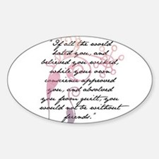 Jane Eyre Quote Sticker (Oval)