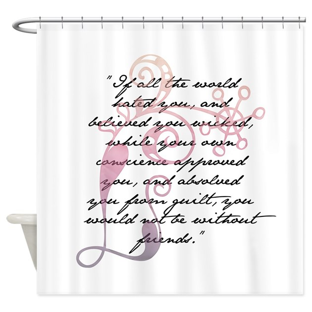 Jane Eyre Quote Shower Curtain By ForeverLoveInfinity