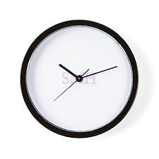 SMH (SHAKING MY HEAD) PINK Wall Clock