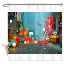 Times Square: Snow Storm Shower Curtain